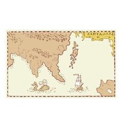Vintage Map Treasure Island vector image