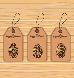 Easter eggs on labels vector image