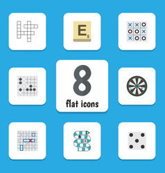 flat icon play set of guess multiplayer arrow vector image vector image