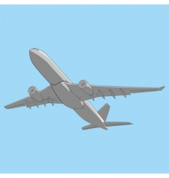 illustration airliner vector image vector image