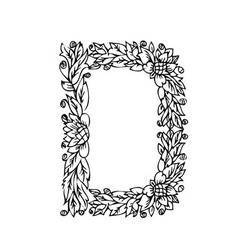 letters floral d vector image vector image