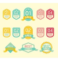 Modern soft color Design label vector image vector image