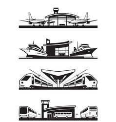 passenger transport terminals vector image vector image