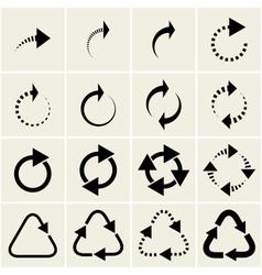 technological arrows vector image vector image