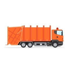 truck for assembling and transportation garbage vector image