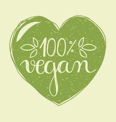 vegan heart vector image