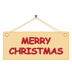 board with Merry Christmas congratulation vector image