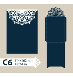 Layout envelope with carved openwork pattern vector