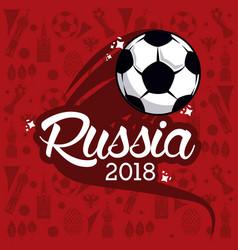Russia 2018 world soccer vector