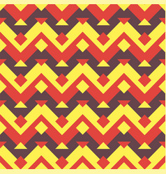 seamless ethnic zigzag pattern background vector image vector image