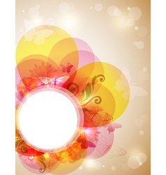 abstract butterfly banner vector image vector image