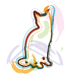 Abstract Cat vector image
