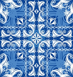 blue vintage seamless vector image vector image