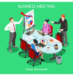 Business Room 04 People Isometric vector image vector image