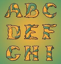 Halloween decorative alphabet part 1 vector image vector image