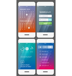 Mobile user interface template - Stock vector image