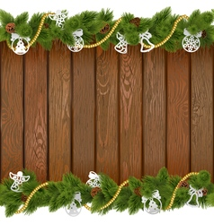 Seamless Christmas Board with Paper Decorations vector image vector image