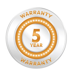 5 years warranty vector image