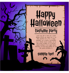 a poster on theme halloween holiday a vector image