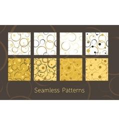 Abstract Circles Seamless Patterns Set vector image
