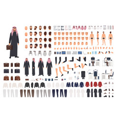 Arab businessman in traditional formal clothes diy vector