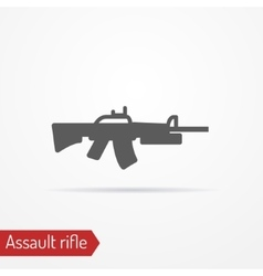 Assault rifle icon vector image