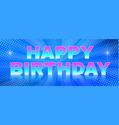 bright banner happy birthday theme vector image