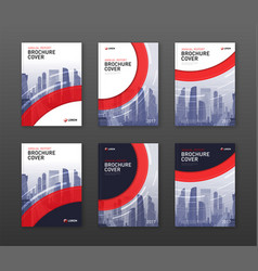 Brochure cover design templates set for finance vector