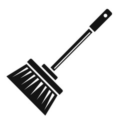 broom brush icon simple style vector image