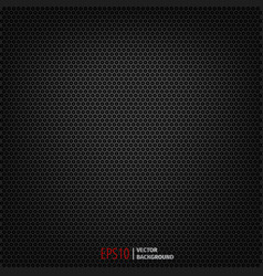 carbon polygon dark pattern background vector image