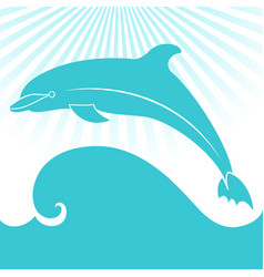 Card with dolphin elegant gift card vector