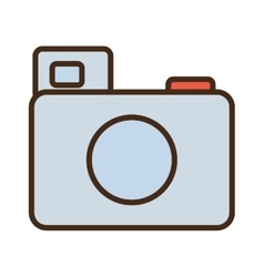 Cartoon photo camera picture image icon vector
