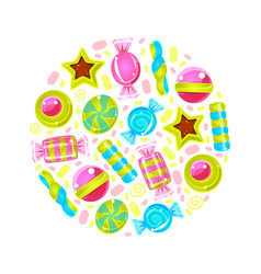 Circle with a pattern candy vector