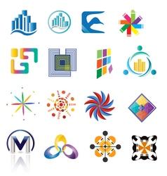 Collection of random logos vector