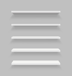 creative of empty shelves set vector image vector image
