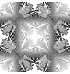 Design seamless monochrome decotative pattern vector