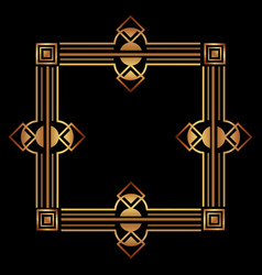 elegant antiquarian frame in art deco style vector image