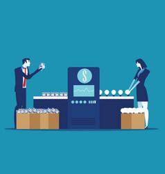 employee concerts ideas into money concept vector image