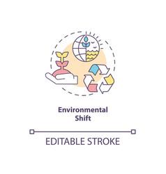 Environmental shift concept icon vector