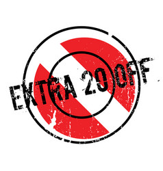 Extra 20 off rubber stamp vector
