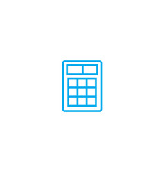 financial calculator thin line stroke icon vector image