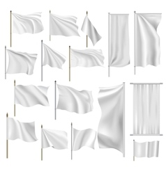 Flags and banners set vector