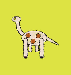 Flat shading style icon giraffe toy vector