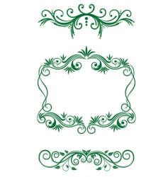 floral vintage decorations vector image