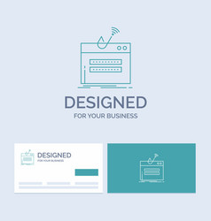 fraud internet login password theft business logo vector image