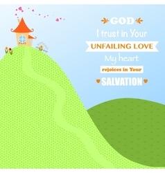 God jesus christ background design cartoon worship vector