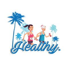 healthy human jogging background image vector image