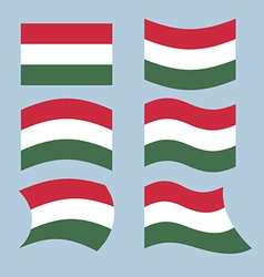 Hungary flag Set of flags of Hungarian Republic in vector image