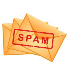 Icon envelopes inscription spam vector vector
