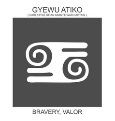 Icon with african adinkra symbol gyewu atiko vector